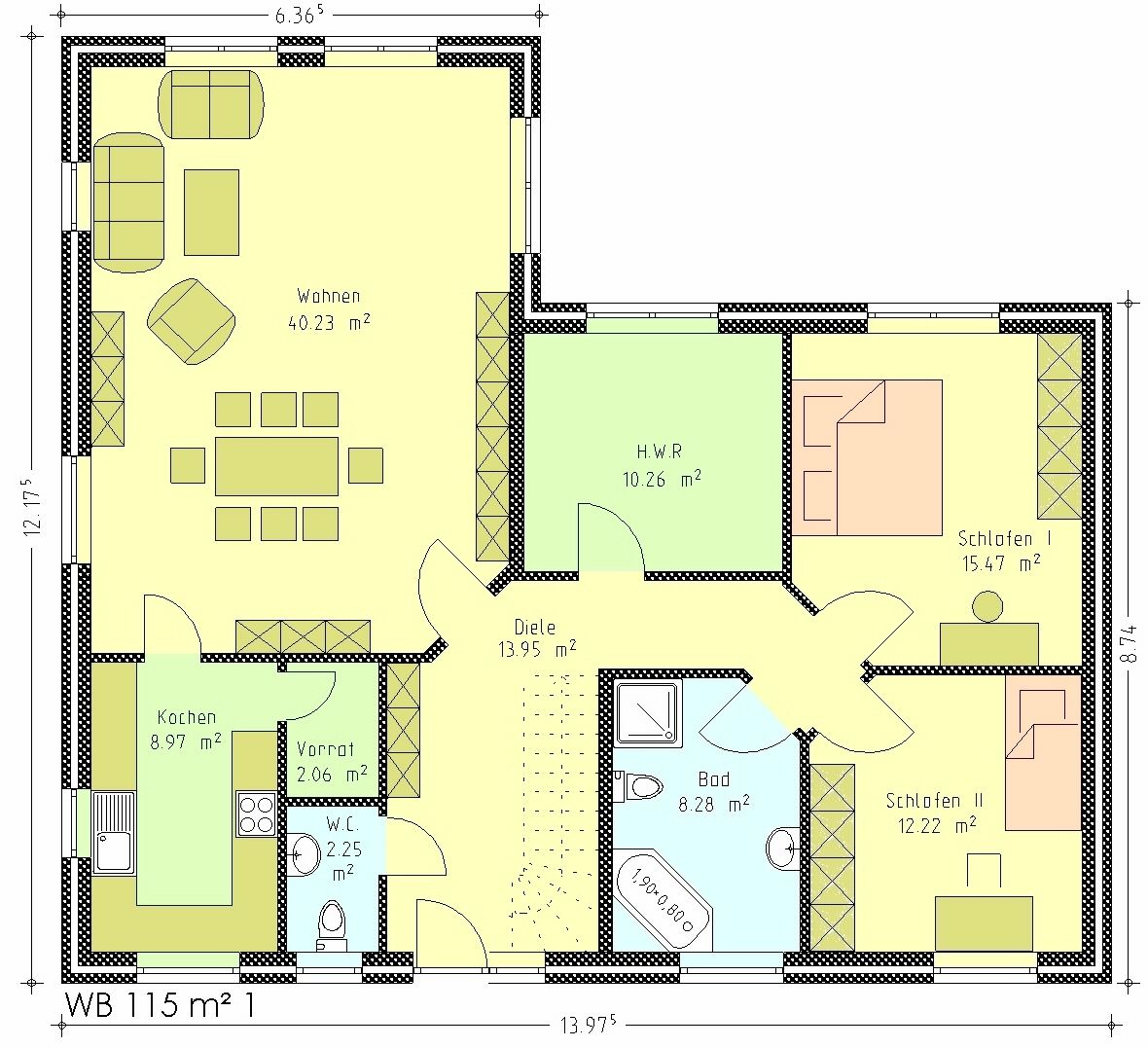 Grundrisse bungalow ihr traumhaus ideen for Bungalow grundrisse